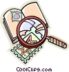 stamp collecting, stamps Vector Clipart picture