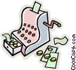 Vector Clip Art image  of a cash register