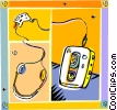Vector Clipart illustration  of a portable cassette player