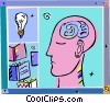 the thought process Vector Clipart illustration