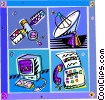 satellite telecommunications Vector Clip Art image
