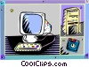 computer workstation Vector Clipart graphic