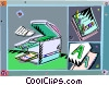 Vector Clip Art graphic  of a photocopier