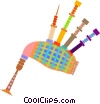 Vector Clip Art image  of a bagpipes