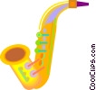Vector Clipart illustration  of a saxophone