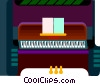 piano Vector Clipart illustration