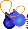 Vector Clipart graphic  of a castanets