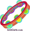 Vector Clip Art graphic  of a tambourine