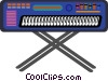 electronic keyboard Vector Clipart illustration