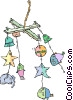 Vector Clip Art picture  of a child's hanging mobile