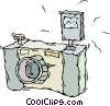 Vector Clipart graphic  of a camera