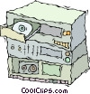 Vector Clip Art picture  of a home stereo system