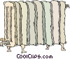 hot water radiator Vector Clip Art image