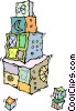 building blocks Vector Clipart illustration