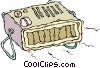 Vector Clipart graphic  of a clock radio