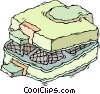 Vector Clipart graphic  of a electric waffle machine