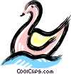 Vector Clipart illustration  of a swan
