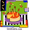 birthday cake with candles Vector Clip Art image