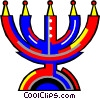 Vector Clip Art picture  of a candelabra