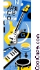 Vector Clip Art graphic  of a music