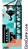 construction crane Vector Clipart picture