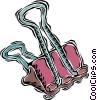 bulldog clip, alligator clip Vector Clipart graphic