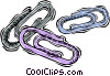 Vector Clipart picture  of a paperclips