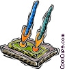Vector Clipart picture  of a pens