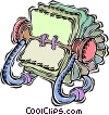 rolodex Vector Clipart graphic