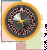 Vector Clipart graphic  of a roulette wheel