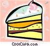 Vector Clipart graphic  of a Piece of cake