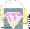 Vector Clipart picture  of a diamond