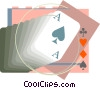 Vector Clipart picture  of an ace of spades