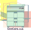 office equipment, photocopier Vector Clipart image