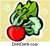 Vector Clip Art graphic  of a radish
