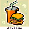 Vector Clip Art graphic  of a hamburger