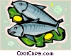 Vector Clip Art image  of a Fish with lemon