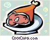 Leg of pork Vector Clip Art picture