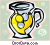 Vector Clipart graphic  of a Jug of lemonade