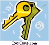 Vector Clip Art graphic  of a house keys