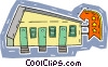 Vector Clipart picture  of a motel
