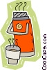 Vector Clipart picture  of a thermos of hot beverage