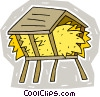 hay for feeding livestock Vector Clipart illustration