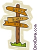 Vector Clipart illustration  of a signpost