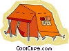 Vector Clip Art graphic  of a camping tent