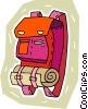 Vector Clip Art graphic  of a back pack