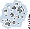 paw prints Vector Clipart picture