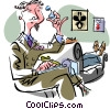 Vector Clipart graphic  of a psychiatrist