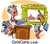 auctioneer Vector Clipart picture