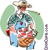 farmer Vector Clipart graphic